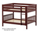 Maxtrix SLURP Low Bunk Bed Full Size Chestnut | 26537 | MX-SLURP-CX