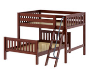 Maxtrix SQUASH L-Shaped Bunk Bed Full Size Chestnut | Maxtrix Furniture | MX-SQUASH-CX