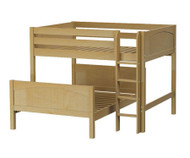 Maxtrix SQUISH L-Shaped Bunk Bed Full Size Natural | Maxtrix Furniture | MX-SQUISH-NX