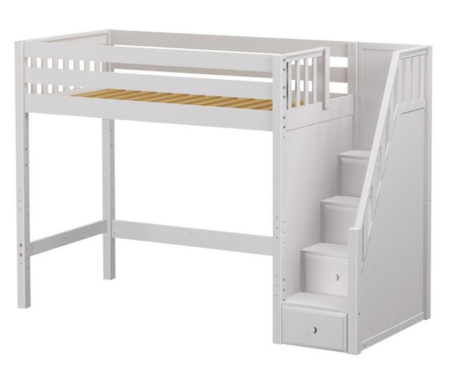 Maxtrix Star High Loft Bed With Stairs Matrix Kids Furniture