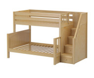 Maxtrix SUMO Bunk Bed with Stairs Twin over Full Size Natural | Maxtrix Furniture | MX-SUMO-NX