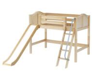 Maxtrix SWEET Mid Loft Bed with Slide Twin Size Natural | Maxtrix Furniture | MX-SWEET-NX