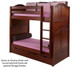 Maxtrix TALL High Bunk Bed Twin Size Chestnut | Maxtrix Furniture | MX-TALL-CX
