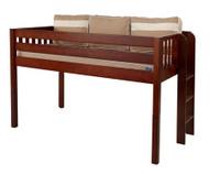 Maxtrix TIGHT Low Loft Bed Twin Size Chestnut   Maxtrix Furniture   MX-TIGHT-CX