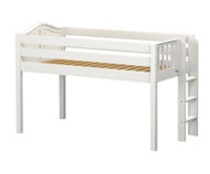 Maxtrix TIGHT Low Loft Bed Twin Size White | Maxtrix Furniture | MX-TIGHT-WX