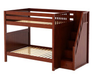 Maxtrix TOPPER High Bunk Bed with Stairs Full Size Chestnut | Maxtrix Furniture | MX-TOPPER-CX