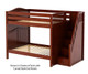 Maxtrix TOPPER High Bunk Bed with Stairs Full Size Chestnut   Maxtrix Furniture   MX-TOPPER-CX