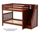 Maxtrix TOPPER High Bunk Bed with Stairs Full Size Chestnut   26596   MX-TOPPER-CX