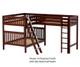 Maxtrix TRIPLET Corner Loft Bunk Bed Full Size Chestnut | 26603 | MX-TRIPLET-CX