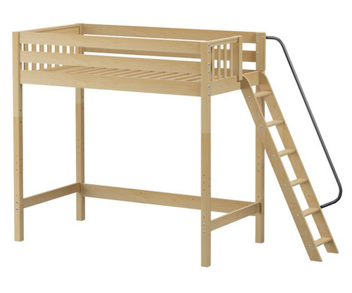 Maxtrix DUNK Ultra-High Loft Bed Twin Size Natural | Maxtrix Furniture | MX-ULTRADUNK-NX