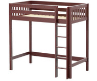 Maxtrix JIBJAB Ultra-High Loft Bed Twin Size Chestnut | Maxtrix Furniture | MX-ULTRAJIBJAB-CX