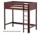 Maxtrix JIBJAB Ultra-High Loft Bed Twin Size Chestnut | Maxtrix Furniture | MX-ULTRAJIBJAB-CX