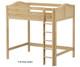 Maxtrix JIBJAB Ultra-High Loft Bed Twin Size Natural | Maxtrix Furniture | MX-ULTRAJIBJAB-NX