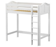 Maxtrix JIBJAB Ultra-High Loft Bed Twin Size White | Maxtrix Furniture | MX-ULTRAJIBJAB-WX
