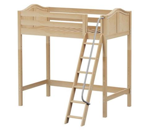 Maxtrix KNOCKOUT Ultra-High Loft Bed Twin Size Natural   Maxtrix Furniture   MX-ULTRAKNOCKOUT-NX