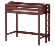 Maxtrix SLAM Ultra-High Loft Bed Twin Size Chestnut | Maxtrix Furniture | MX-ULTRASLAM-CX