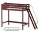 Maxtrix SLAM Ultra-High Loft Bed Twin Size Chestnut   Maxtrix Furniture   MX-ULTRASLAM-CX
