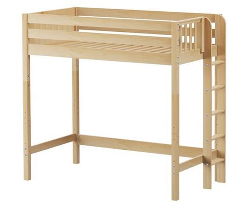 Maxtrix SLAM Ultra-High Loft Bed Twin Size Natural | Maxtrix Furniture | MX-ULTRASLAM-NX