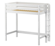 Maxtrix SLAM Ultra-High Loft Bed Twin Size White | Maxtrix Furniture | MX-ULTRASLAM-WX