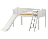 Maxtrix WOW Low Loft Bed with Slide Twin Size White | Maxtrix Furniture | MX-WOW-WX