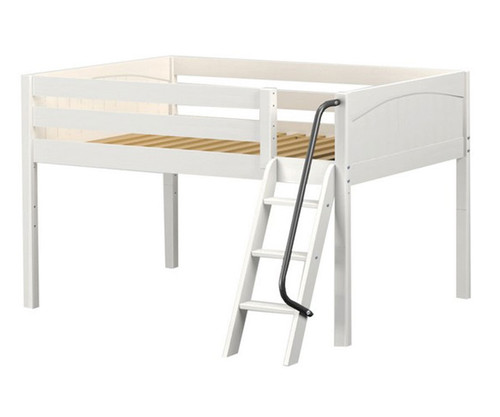 Maxtrix XL Low Loft Bed Full Size White | Maxtrix Furniture | MX-XL-WX