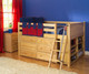 Maxtrix XL Low Loft Bed w/ Dresser & Bookcase Full Size Natural | Maxtrix Furniture | MX-XL1-NX