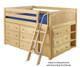 Maxtrix XL Low Loft Bed w/ Dressers Full Size Chestnut | Maxtrix Furniture | MX-XL3-CX