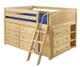 Maxtrix XL Low Loft Bed w/ Dressers Full Size Natural | Maxtrix Furniture | MX-XL3-NX