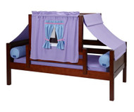 Maxtrix YO Day Bed with Top Tent Twin Size Chestnut 4 | Maxtrix Furniture | MX-YO27-C