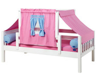 Maxtrix YO Day Bed with Top Tent Twin Size White 5 | Maxtrix Furniture | MX-YO28-W