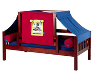 Maxtrix YO Day Bed with Top Tent Twin Size Chestnut 6 | Maxtrix Furniture | MX-YO29-C