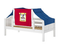Maxtrix YO Day Bed with Top Tent Twin Size White 6 | Maxtrix Furniture | MX-YO29-W