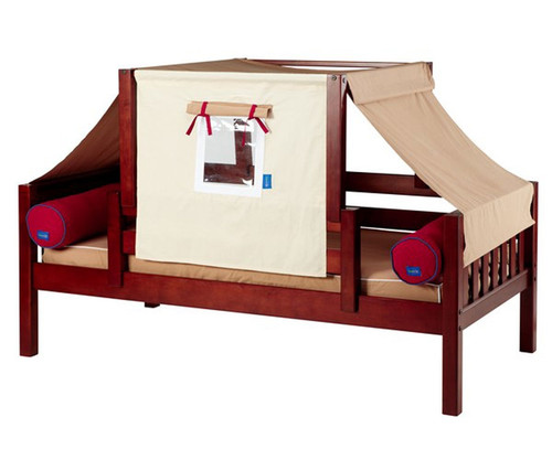 Maxtrix YO Day Bed with Top Tent Twin Size Chestnut 7 | Maxtrix Furniture | MX-YO30-C