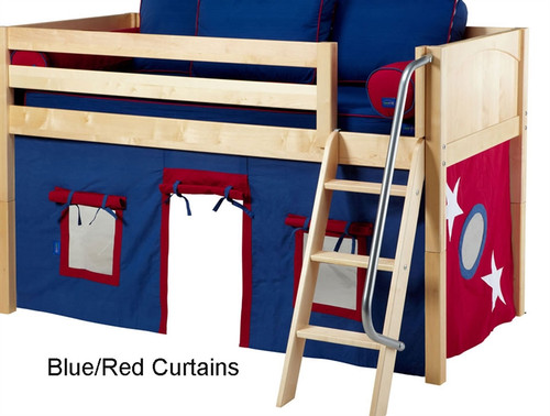 Bunk Bed Curtains Blue & Red | Maxtrix | MX3220-021