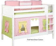 Bunk Bed Curtains Pink, Green & Yellow | Maxtrix | MX3220-025