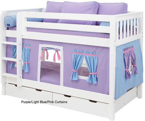Bunk Bed Curtains Purple, Light Blue & Hot Pink | Maxtrix | MX3220-027