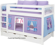 Bunk Bed Curtains Purple, Light Blue & Hot Pink | Maxtrix | MX3220-027