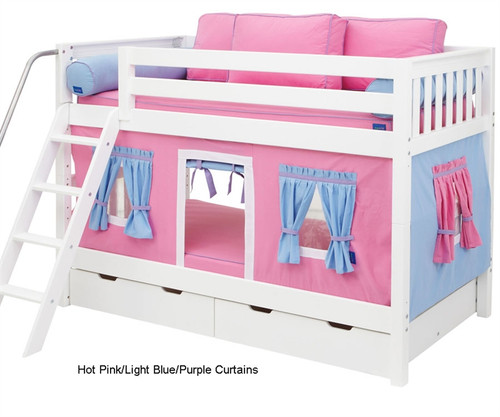 Bunk Bed Curtains Pink, Light Blue & Purple | Maxtrix | MX3220-028