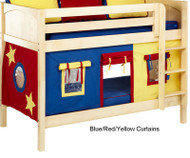 Bunk Bed Curtains Blue, Red & Yellow | Maxtrix | MX3220-029