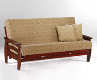 Corona Futon Sofa Rosewood | Night and Day Furniture | ND-Corona-RW