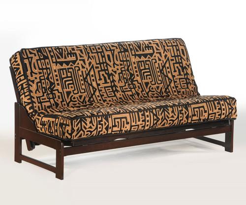 Eureka Futon Sofa Chocolate | Night and Day Furniture | ND-Eureka-CHO