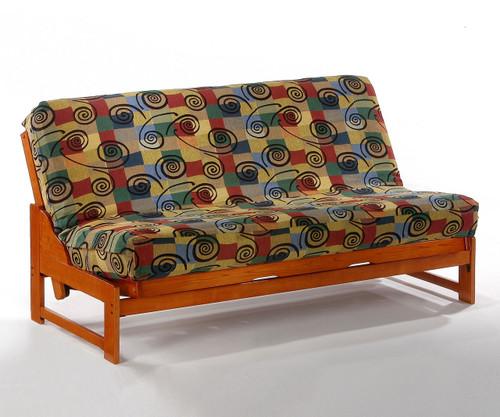 Eureka Futon Sofa Honey Oak | Night and Day Furniture | ND-Eureka-HO