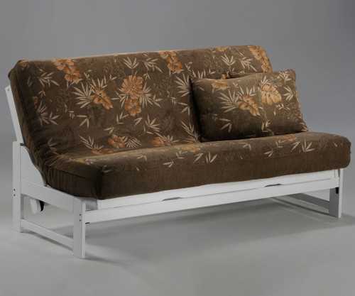 Eureka Futon Sofa White | Night and Day Furniture | ND-Eureka-WH