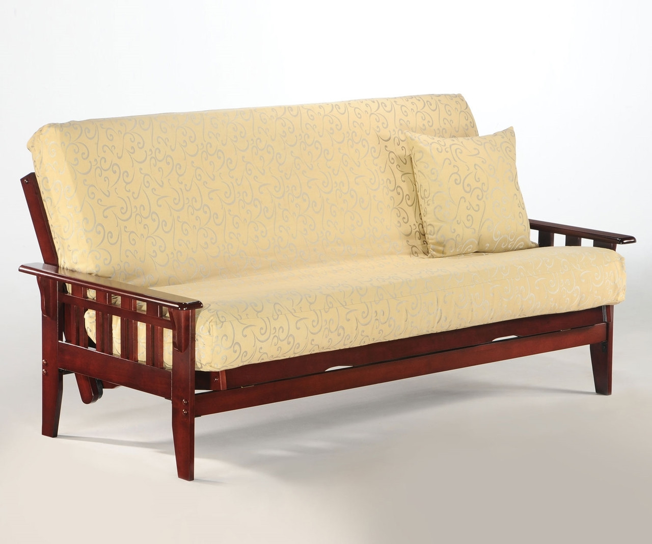 Kingston Futon Sofa Rosewood