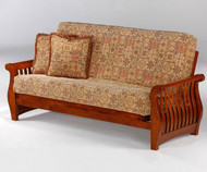 Nightfall Futon Sofa Cherry | Night and Day Furniture | ND-Nightfall-Ch