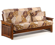 Raindrop Futon Sofa Black Walnut | Night and Day Furniture | ND-Raindrop-BW