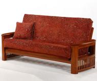 Shadow Futon Sofa Cherry   Night and Day Furniture   ND-Shadow-CH
