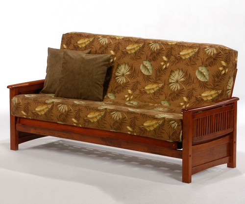 Sunrise Futon Sofa Cherry | Night and Day Furniture | ND-Sunrise-CH