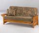 Sunrise Futon Sofa Medium Oak | Night and Day Furniture | ND-Sunrise-MO