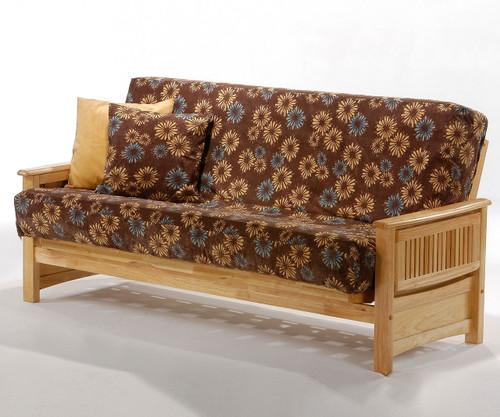 Sunrise Futon Sofa Natural | Night and Day Furniture | ND-Sunrise-NA